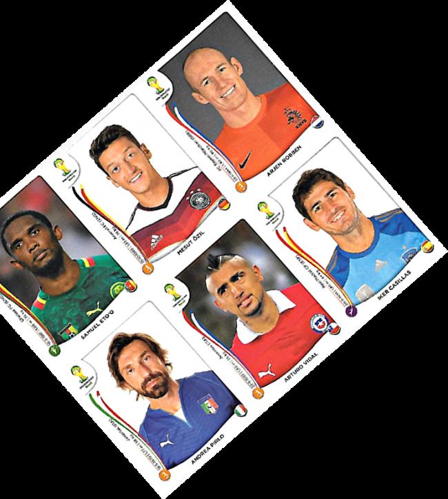 2014 Panini - Brazil 2014 - 6-sticker sheet -001a